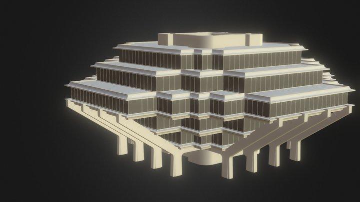 Geisel Library 3D Model