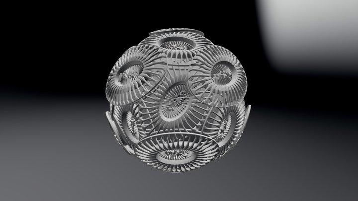 Emiliania Huxleyi 3D Model