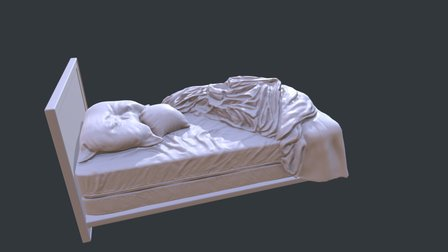 The Ring Scene - Bed WIP 3D Model