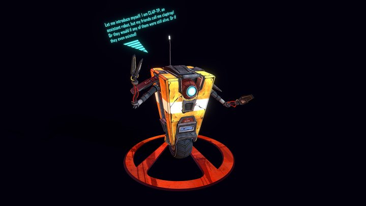 CL4P-TP Borderlands (FanArt) 3D Model