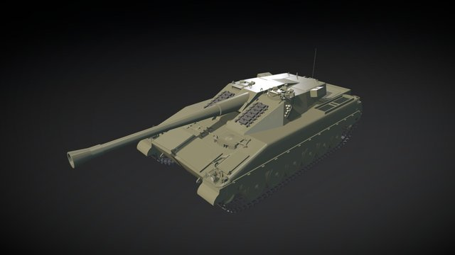 UDES 15/16 TR 3D Model