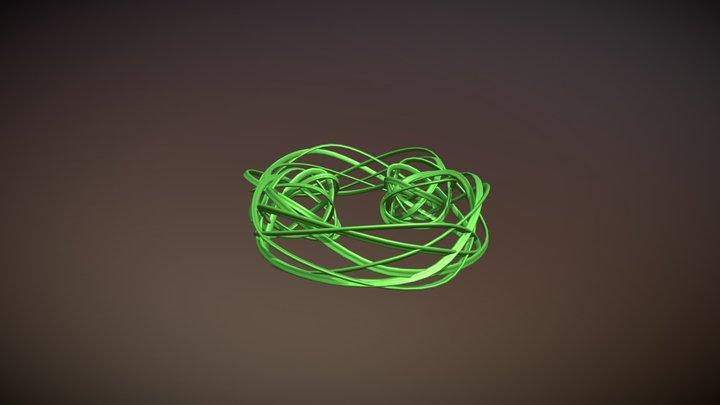 Parametrically Generated Cyclical Lattice 3D Model