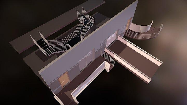 Escaleras y Rampas en Revit 3D Model