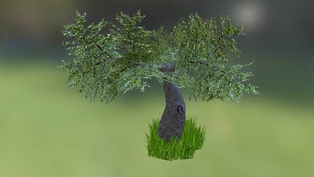 Tree and grass 3D Model