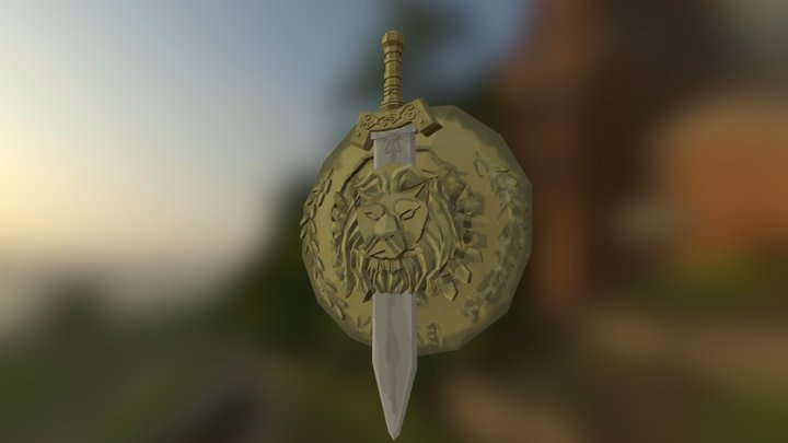 Roman Shield And Sword 3D Model
