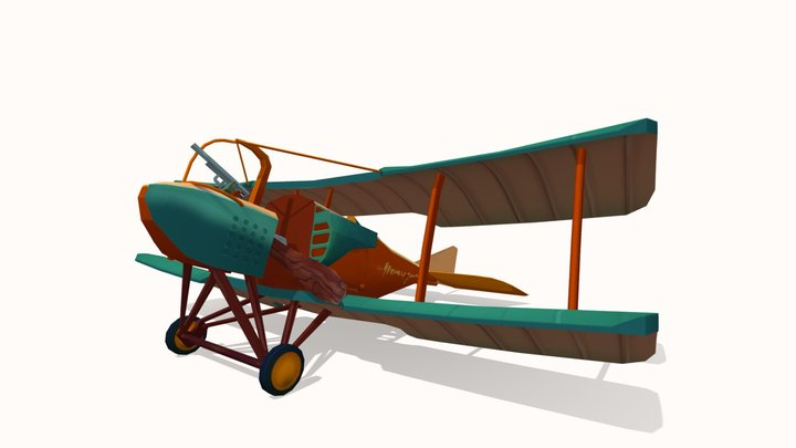 Stylized WWI Plane SPAD. S.A. 3D Model