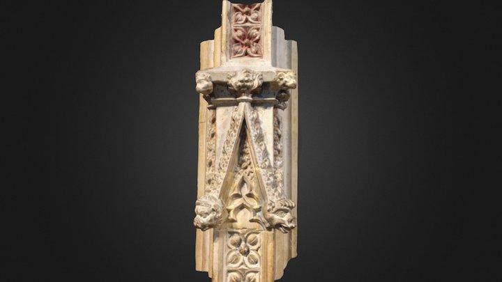 Medieval choir screen detail (2) 3D Model