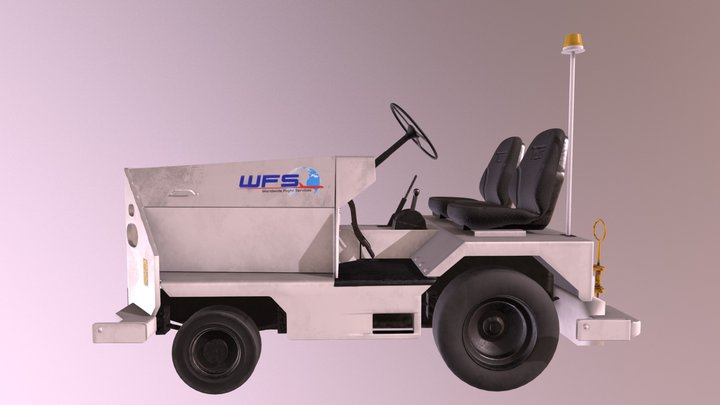 WFS Aircraft Tug 1 - Rev. 01 3D Model