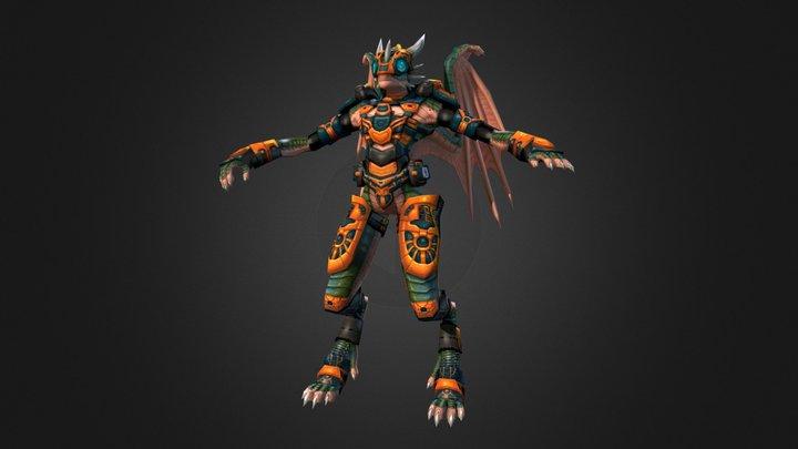 Jragon Ut 2004 Skin 3D Model