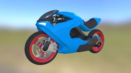Motorbike Concept 3D Model