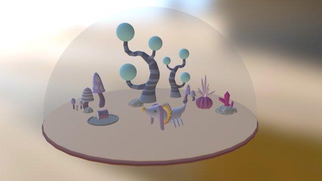 Alien_Full Scene 3D Model