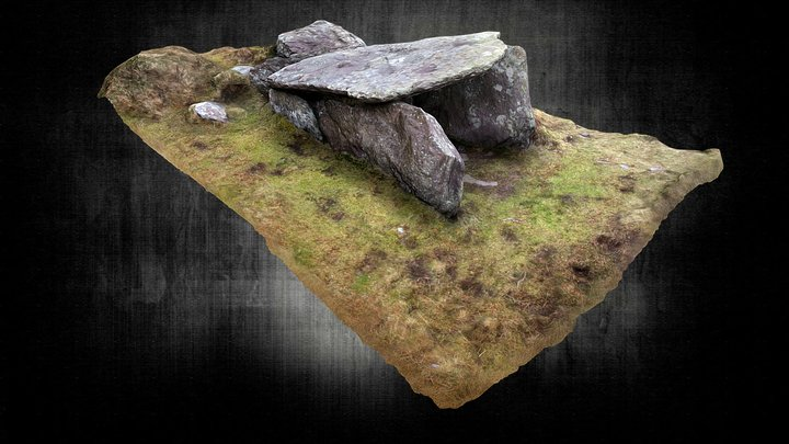 Coomatloukane Northern Wedge Tomb 3D Model