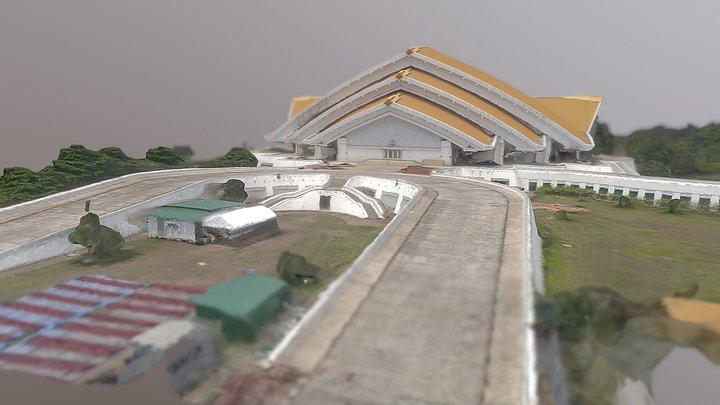 อาคารศูนย์กาญจนาภิเศก มข. 3D Model