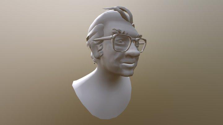 Txillardegi Burua 1962. urtean (adina 33) Laua 3D Model