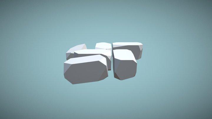 Ruined Tile 1 3D Model