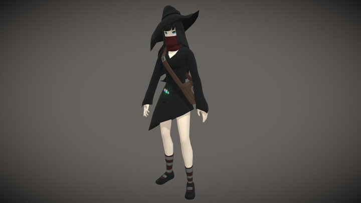 Witch Character 3D Model