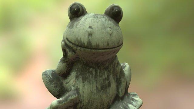 Frog Garden Statue 3D Model