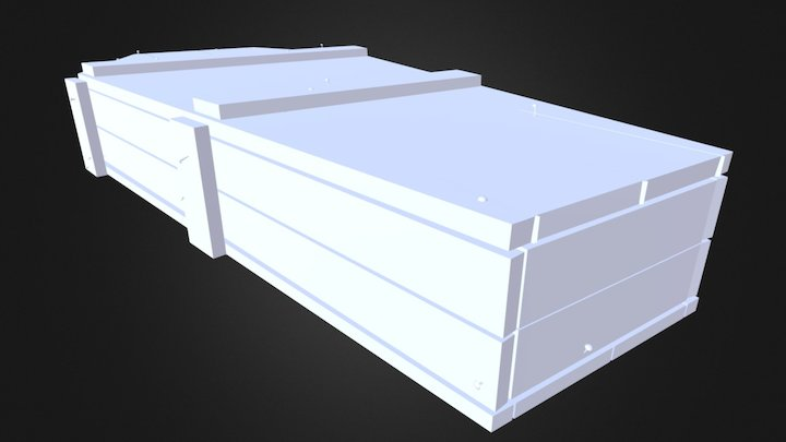 Old Western Coffin 3D Model