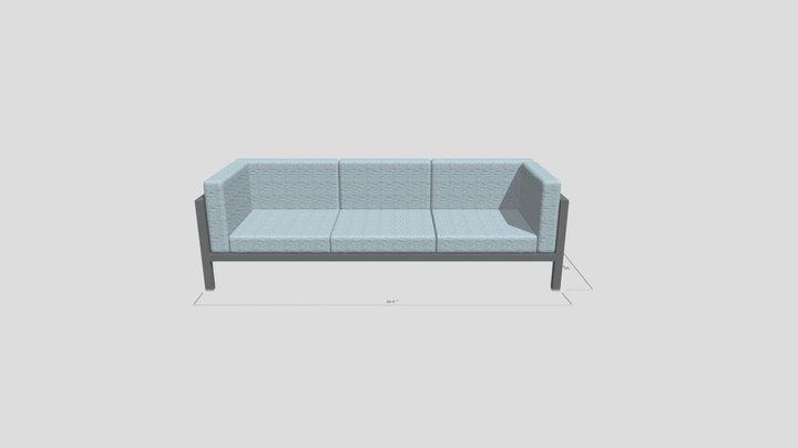 Aqua XL Sofa 3D Model