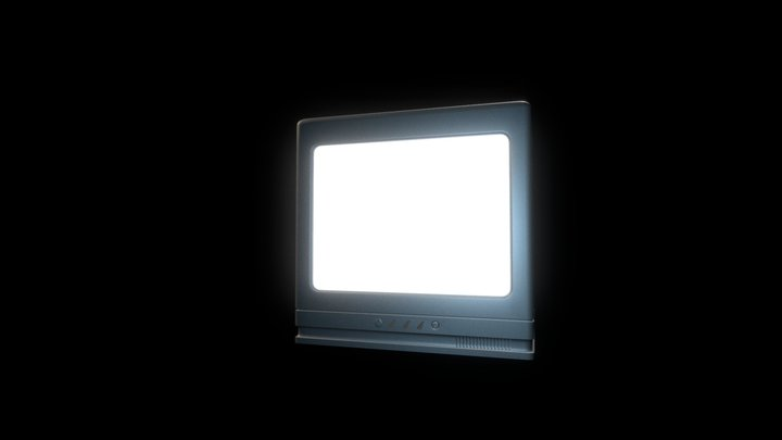 Low Poly Vintage TV 3D Model