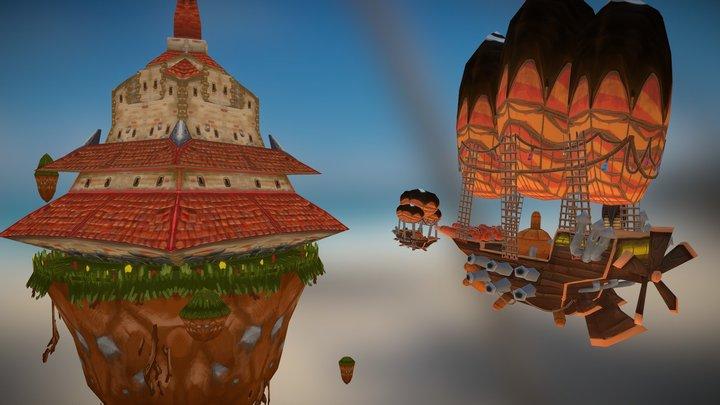 SteamSkyDefense 3D Model