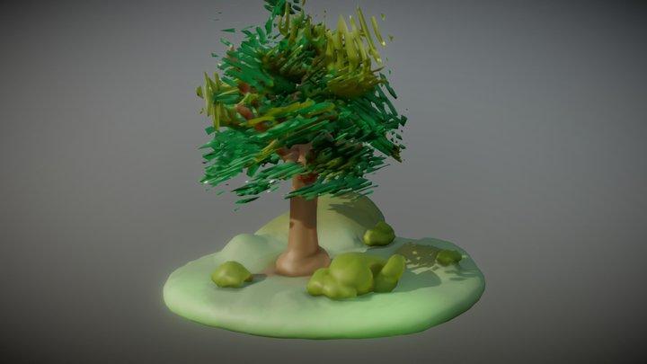 Tree island sculpt 3D Model
