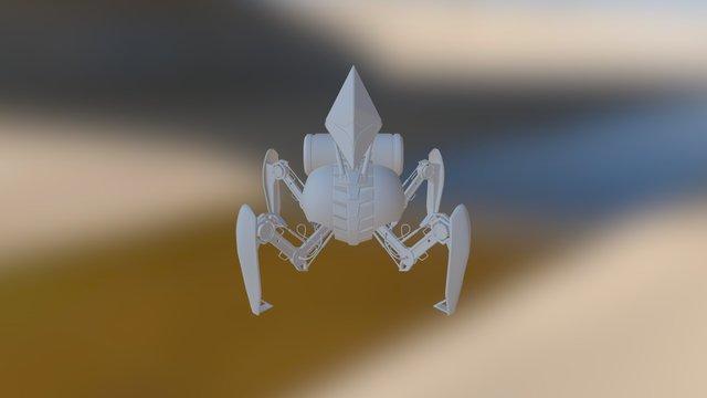 Quadruped Robot - High Poly ver. 3D Model