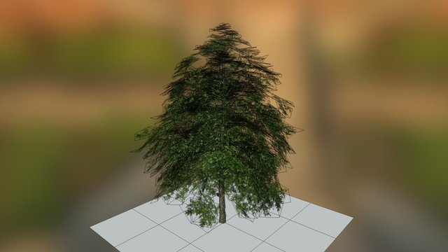 low poly tree example (3997 polys) 3D Model
