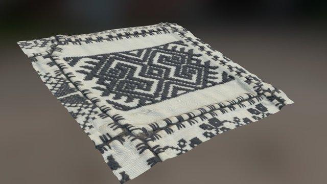 Romanian symbols textile 3D Model