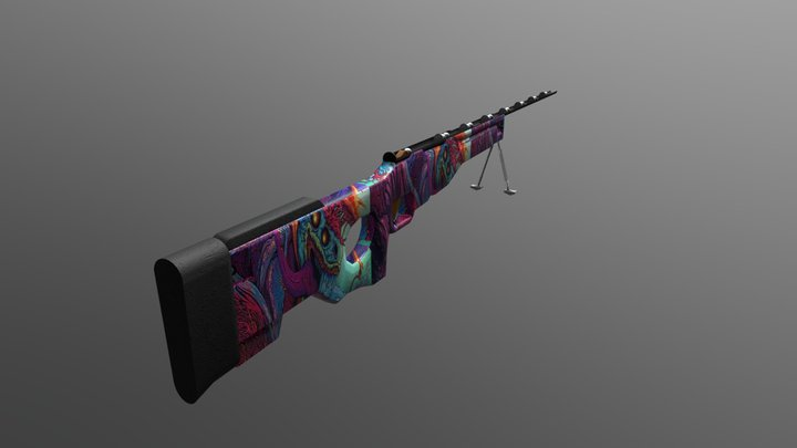 Rifle de Gauss - 2018 (Final Model) 3D Model