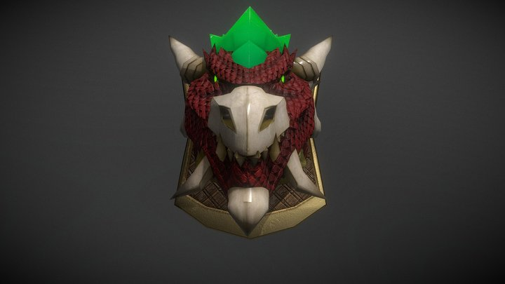 dragonhead trophy 3D Model