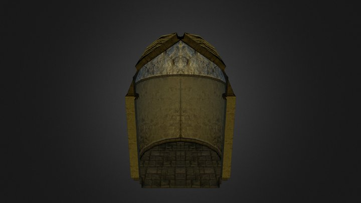 Temple Dungeon Hall 3D Model