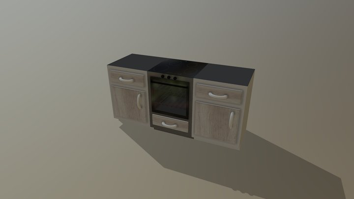 Built-in Kitchen 3D Model