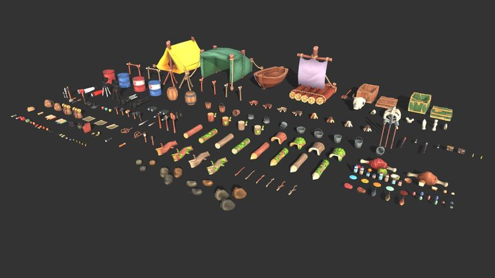 Survival Asset Kit 3D Model