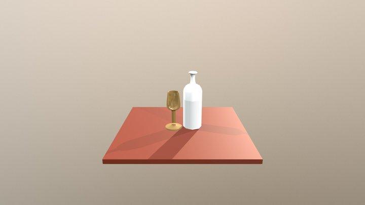 Botellaycopa Transparenteblend 3D Model