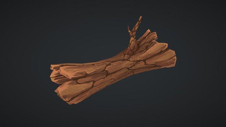 3DCOAT HANDPAINT TREE CGSHARE 3D Model