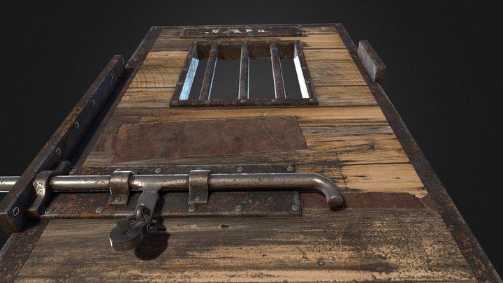 Jail Door Western 3D Model