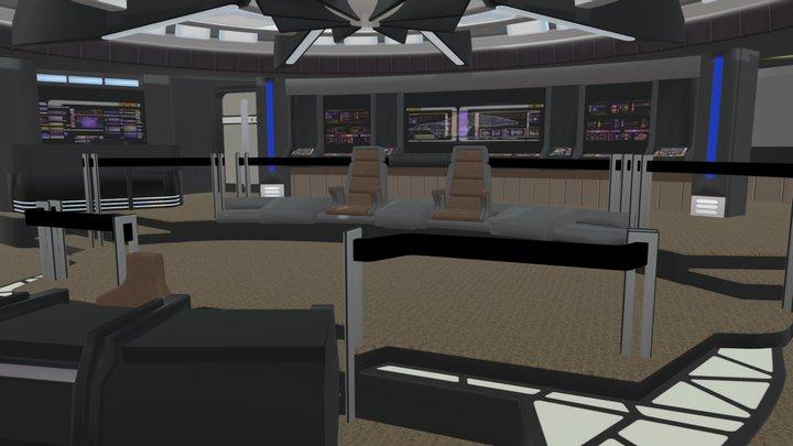 Starship Bridge 4 3D Model