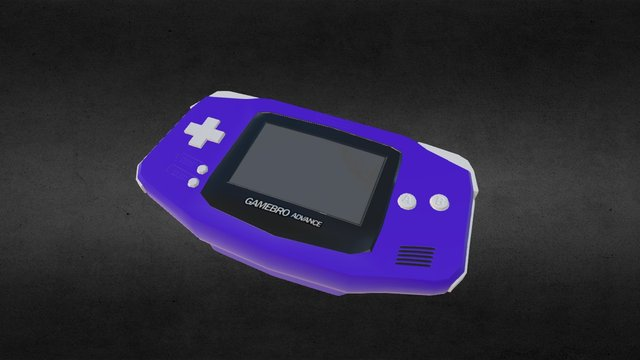 Low Poly Gameboy Advance 3D Model