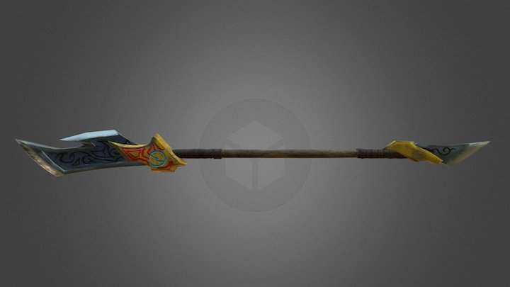 Ancient spear 3D Model