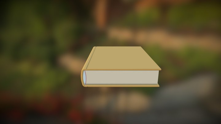 Book Red 3D Model