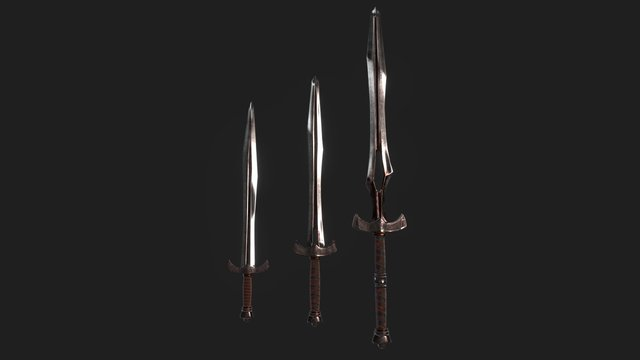 "Swords group ""Dark blood"" 3D Model"