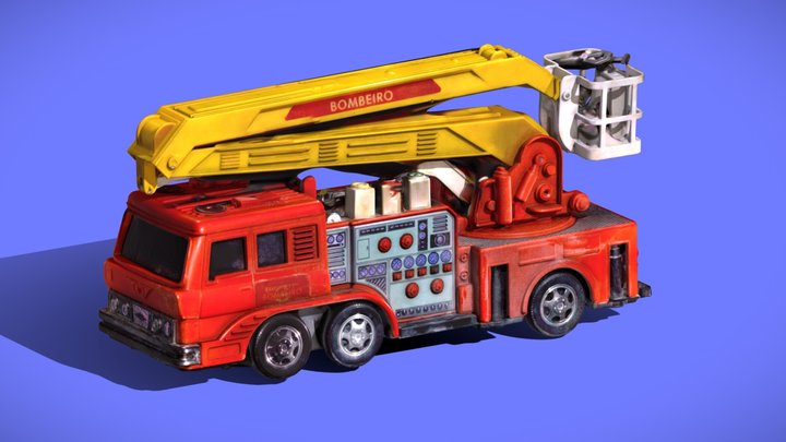 3D SCAN - 80s BOMBEIRO COMANDO ELETR. ESTRELA 3D Model
