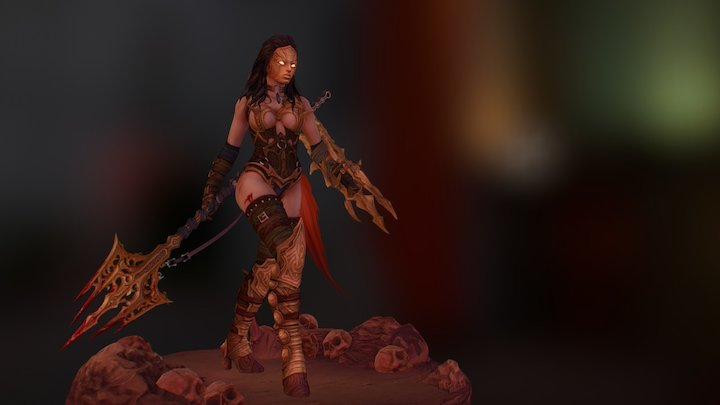 Pit of War - Female Theatrics 3D Model