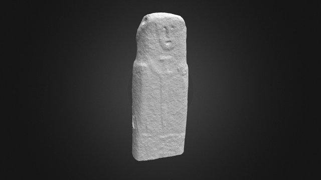 Bronze Age statue-menhir Corsica 3D Model