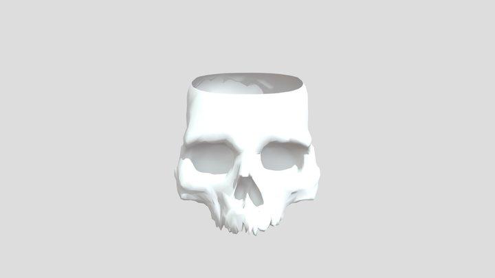 Skull Pencil Container 3D Model
