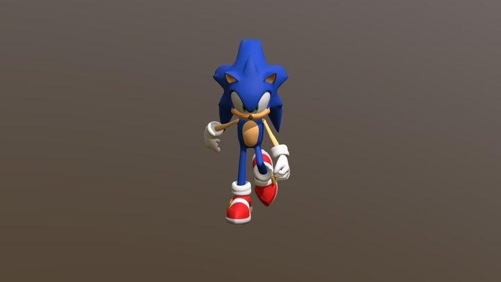 Sonic Redesign 3D Model