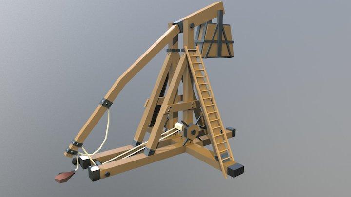 Trebuchet - Siege Equipment Assets 3D Model