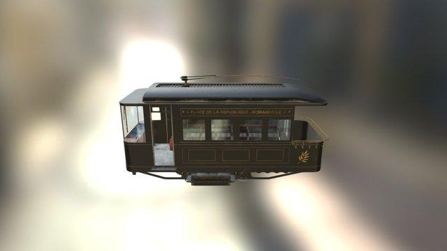 Tramway Wagon 3D Model