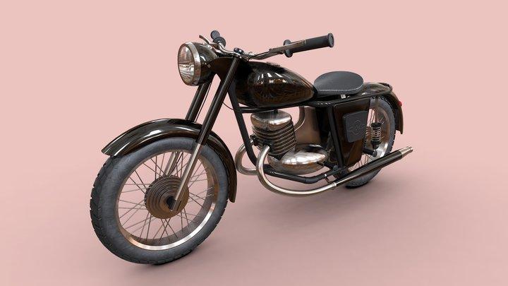 Motorcycle IZH 56 (ИЖ 56) 3D Model